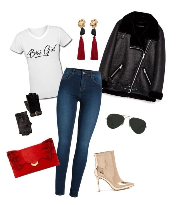 """""""Boss girl"""" by nita-b-sk on Polyvore featuring Forever 21, Pieces, MANGO, Jimmy Choo, Ray-Ban and MICHAEL Michael Kors"""