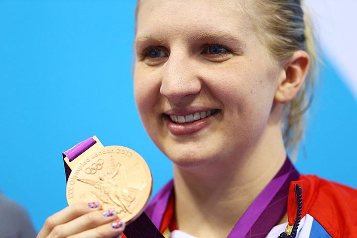 Team GB medals: Rebecca Adlington took bronze in the women's 800 metre freestyle
