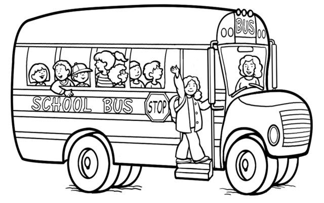 The Bus Driver Says Ok Tata Bye Bye Coloring Pages Bus Driver