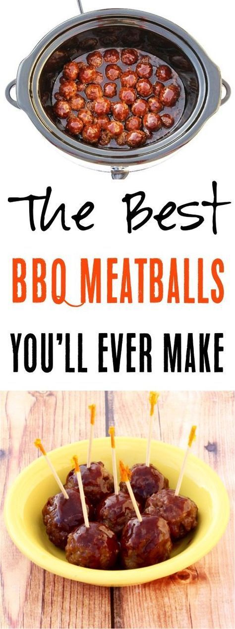 Easy Crockpot BBQ Meatballs Recipe! Such a delicious fall appetizer for your parties!