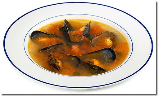 Italienische Muschel Suppe