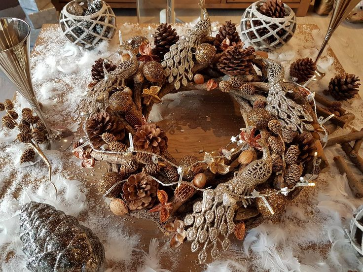 Shining seasonal inspiration, by florist Ellen Gottlieb | Wreath |
