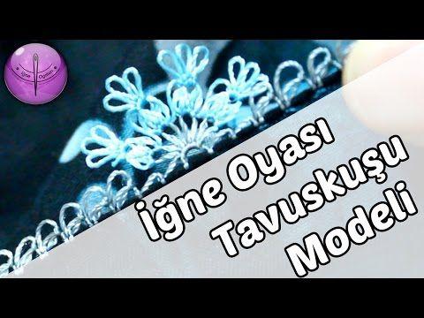 İğne Oyası Tavuskuşu Yazma Modeli Örneği Yapılışı | Örgü Delisiyim