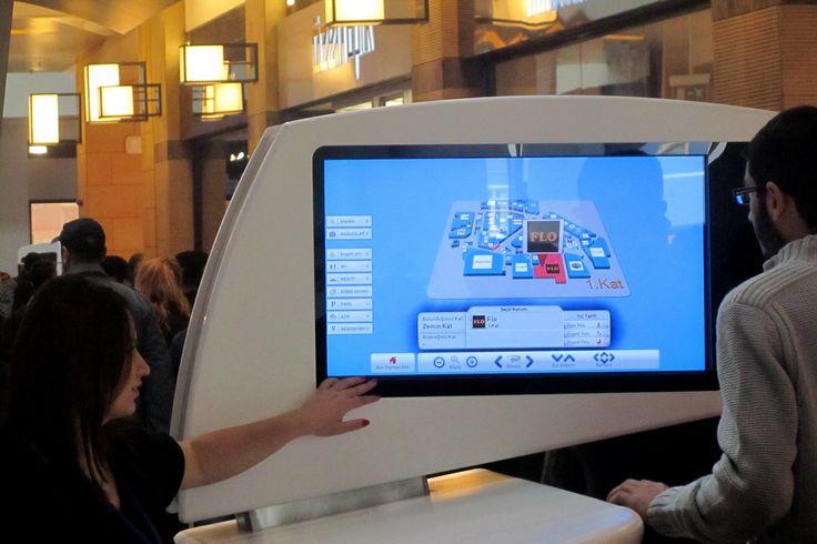 Kayseri Forum AVM ziyaretçileri, dokunmatik panolar ile aradıkları mağazalarn konumlarını rahatlıkla öğrenebiliyorlar.