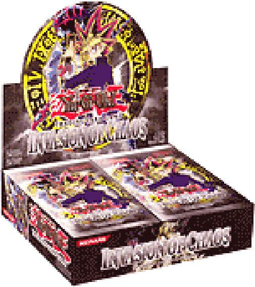 YUGIOH lot Invasion of Chaos UNLIMITED 24 BOOSTER PACKS = BOX! Bby if you get this one you can just stop after becuz this expensive hehe