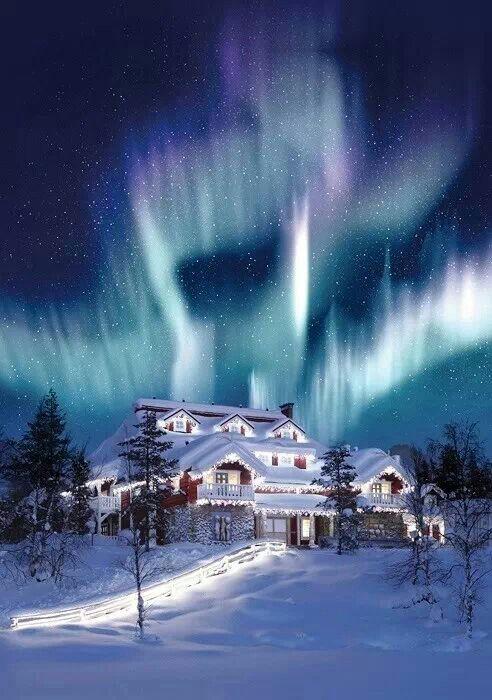 Northern Lights at Christmas.