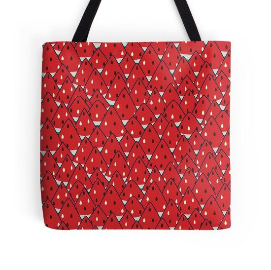 Watermelon Pile watermelon inspired seamless pattern on tote bag and many more
