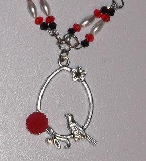 Ladies Handmade Bird Pendant Necklace by GilbertsTree on Etsy, $15.00