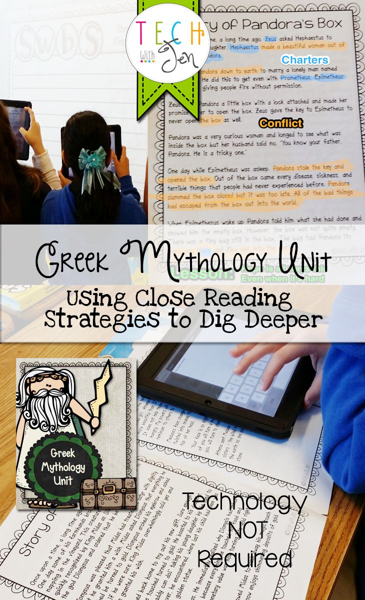 17 best ideas about the greek myths greek mythology greek mythology unit using close reading to dig deeper