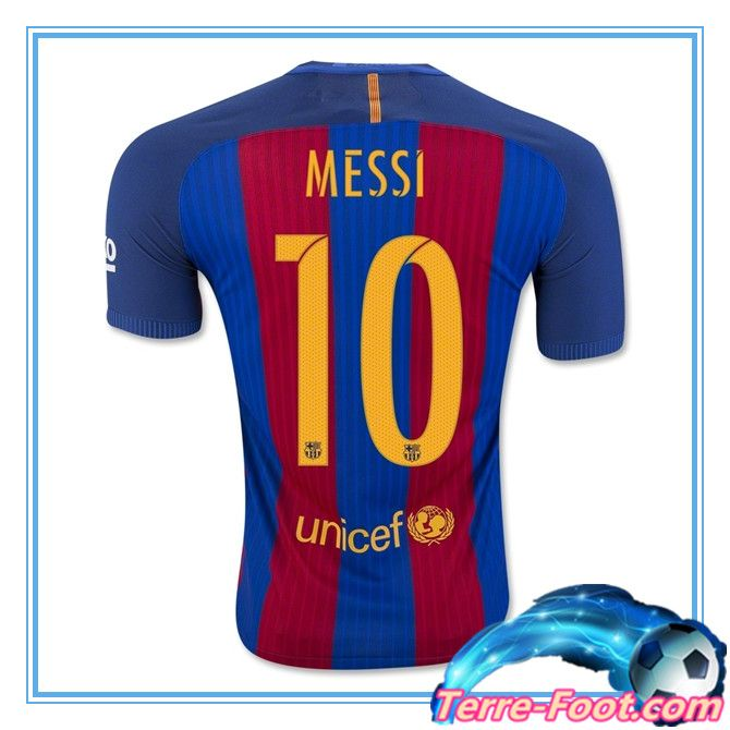 Nouveau Maillot de foot FC Barcelone 2016 2017 Domicile MESSI 10
