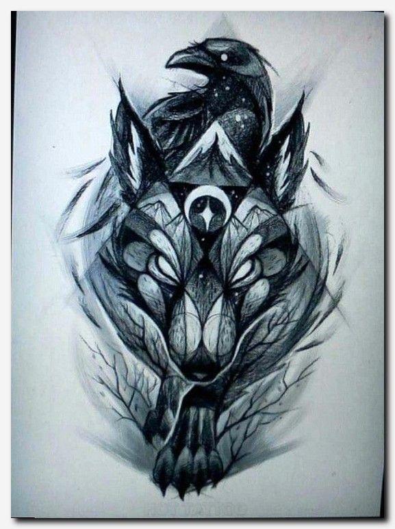 Japanese wolf tattoo sleeve