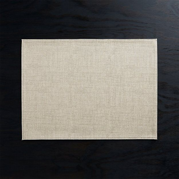 Shiloh Easy Care Taupe Placemat Reviews Crate And Barrel Placemats Crate And Barrel Crates