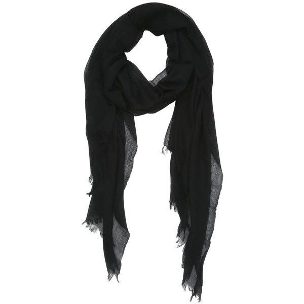 Marchesin Women Super Fine Cashmere Scarf (39,595 MKD) ❤ liked on Polyvore featuring accessories, scarves, black, cashmere scarves and cashmere shawl