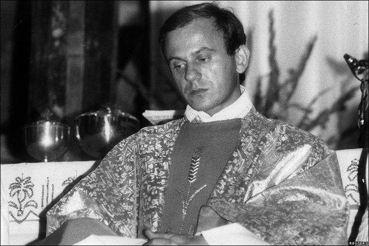 Archive image of Father Jerzy Popieluszko in 1984
