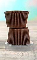 Цветные формочки для кексов, коричневые (4535) 6с