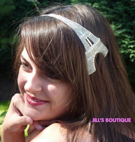 Eiffel tower headband for Greta's Paris party