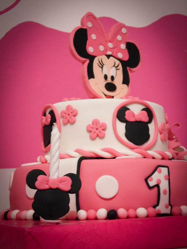 Minnie Mouse cake, cupcakes and pops - Mini Maus torta, mafini i popsi