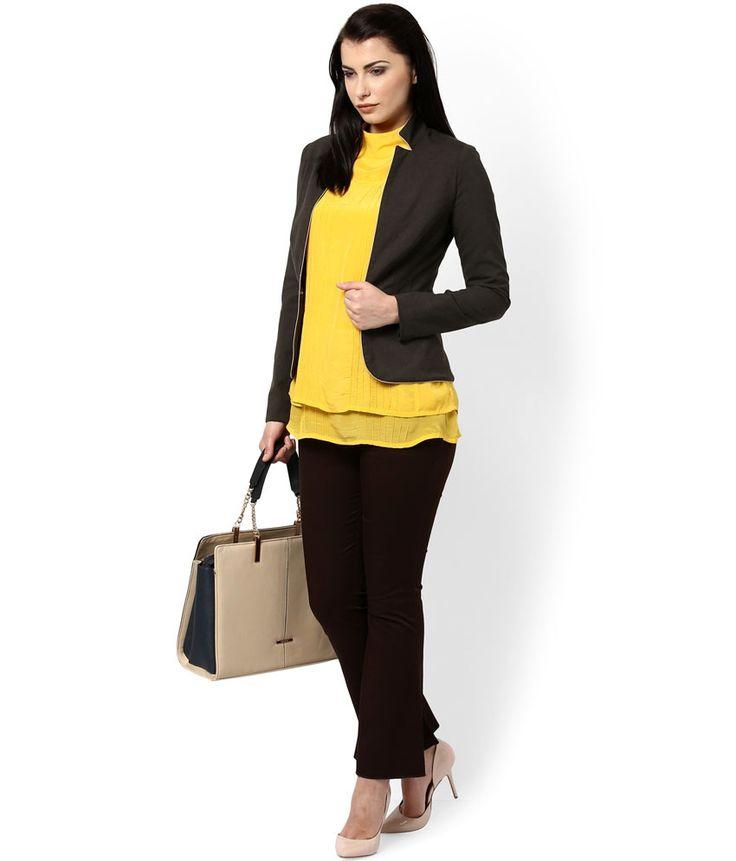 Kaaryah Brown Women Formal Wear Summer Jacket