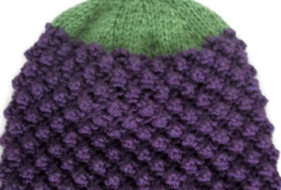 Hand Knitted Blackberry Hat