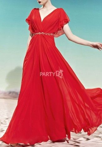 Long flowy wedding dresses home evening dresses for Flowy wedding dress with sleeves