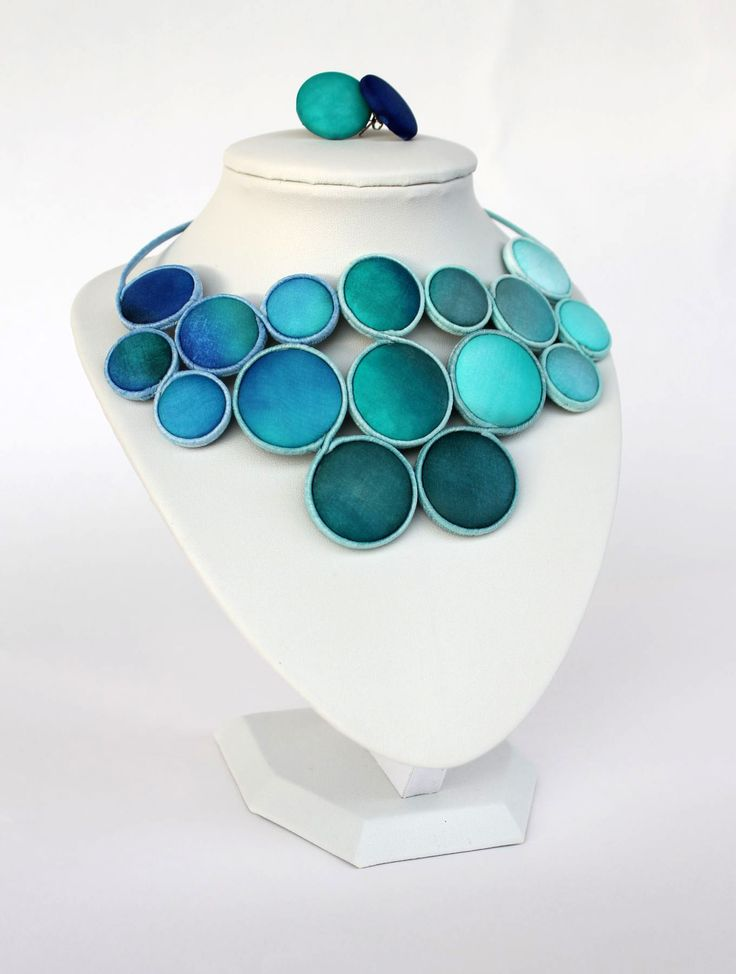 Hand dyed silk jewelry by Koria Design  on etsy: https://www.etsy.com/listing/179044772/hand-painted-turquoise-silk-statement?ref=shop_home_active_13  www.facebook.com/koriadesign
