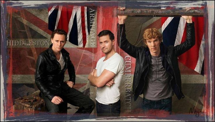 Tom HIddleston, Richard Armitage & Benedict Cumberbatch. Sexy to the 3rd power baby.