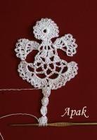 Crochet Angel Bookmark...for YAC group?
