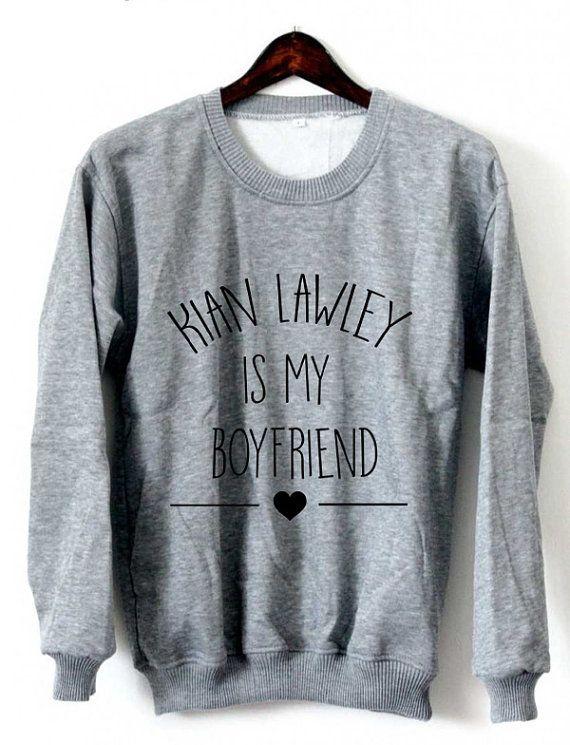 Kian Lawley Is My Boyfriend Sweatshirt Crewneck Black by Xianshop