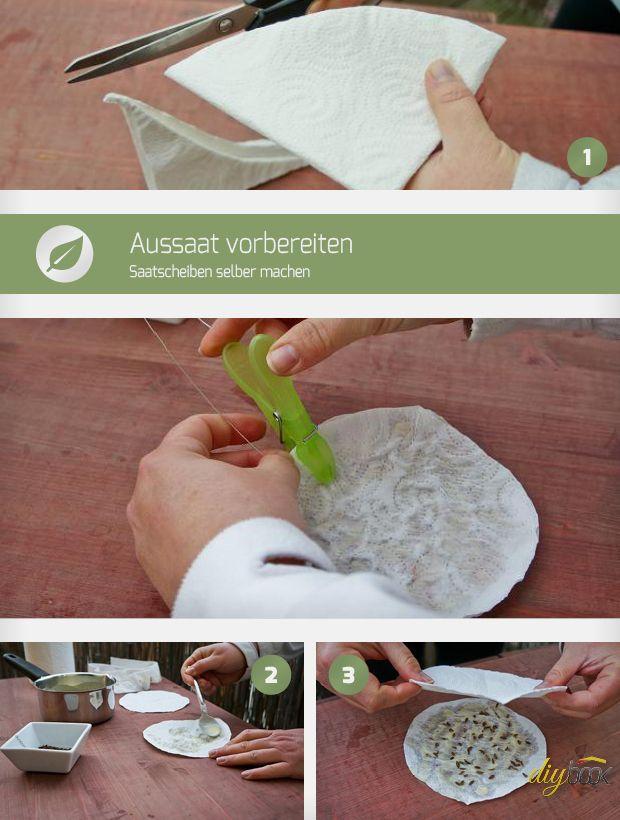 Saatbänder und Saatscheiben sind einfache Hilfsmittel für die perfekte Aussaat im Garten. Wir zeigen wie man Saatscheiben und Saatband selber machen kann.