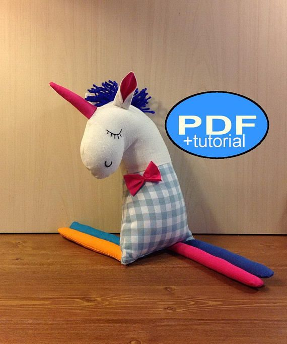 unicorn pattern unicorn sewing pattern unicorn sewing tutorial DIY unicorn cloth doll pattern stuffed unicorn PDF Doll Pattern soft unicorn unicorn toy pattern Baby doll pattern - rag unicorn sewing pattern and Tutorial ( IN ENGLISH)- Instant Download. Pattern you can download