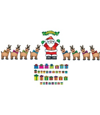 Santa 'n Reindeer Bulletin Board Set - Carson Dellosa Publishing Education Supplies