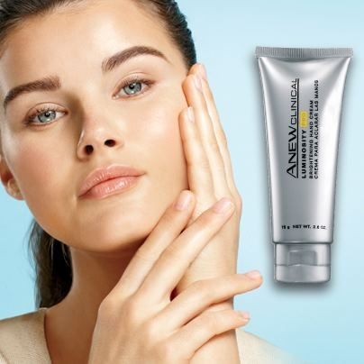 Hands giving away your age? If dark spots and discolorations are showing up on your hands, try Anew Clinical Luminosity Pro Brightening Hand Cream. It helps to improve the look of dark spots while keeping hands smooth and hydrated. Plus, it's just half price in Avon's Campaign 17 Brochure! Contact your Avon Independent Sales Representative today or visit http://www.ca.avon.com/PRSuite/locator.page to find one near you!