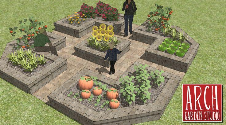 Garden Design For Raised Beds: Best 25+ Raised Vegetable Gardens Ideas On Pinterest