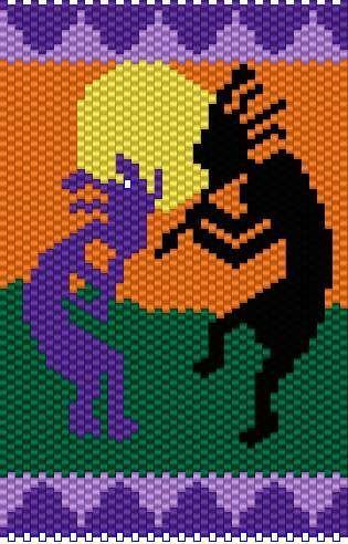 peyote kokopelli | Kokopelli peyote bead PATTERN