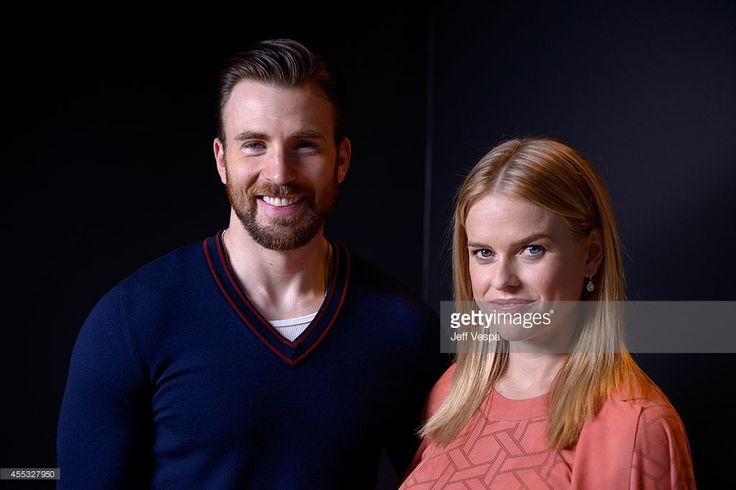Actors Chris Evans and Alice Eve of 'Before We Go' pose for a portrait during the 2014 Toronto International Film Festival on September 12, 2014 in Toronto, Ontario.
