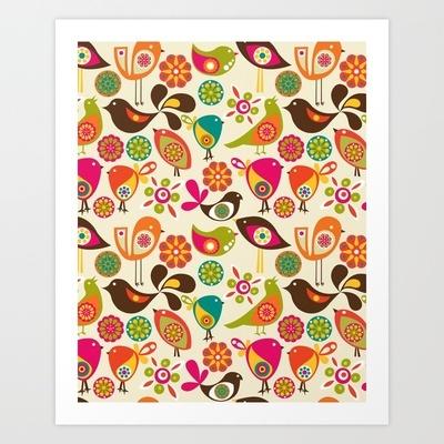 Little Birds Art Print by Valentina - $18.00