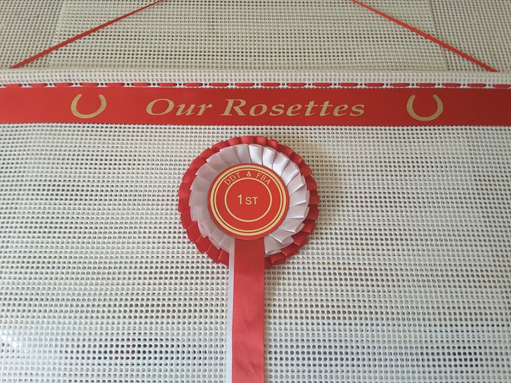 Horse Shoes Design Rosettes Holder , can be personalised visit our website www.displayyourrosettes.com