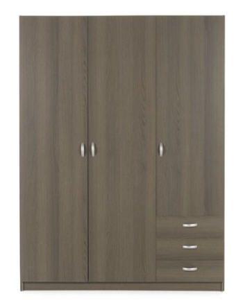 Armoire 3 portes et 3 tiroirs Vision prix promo Alinea 223.50 € TTC