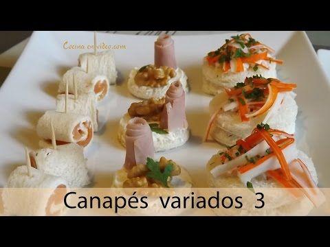 ▶ Canapés variados 3, fáciles y sabrosos - varied canapé, #225 - Cocina en video.com - YouTube