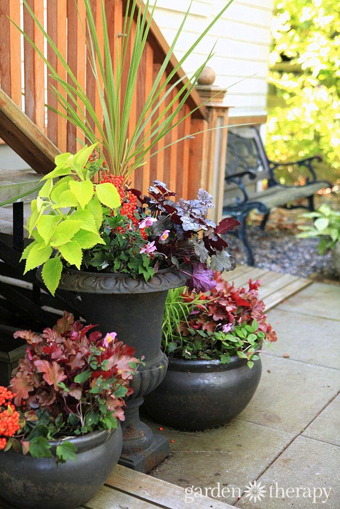 Made For The Shade: Low Maintenance Fall Planters Bursting With Colour