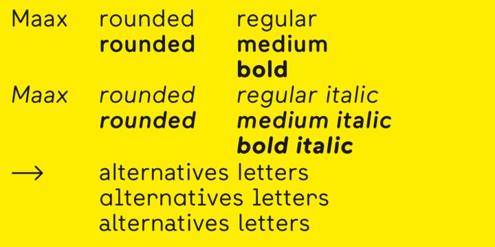 Maax Rounded Font Family Screenshots