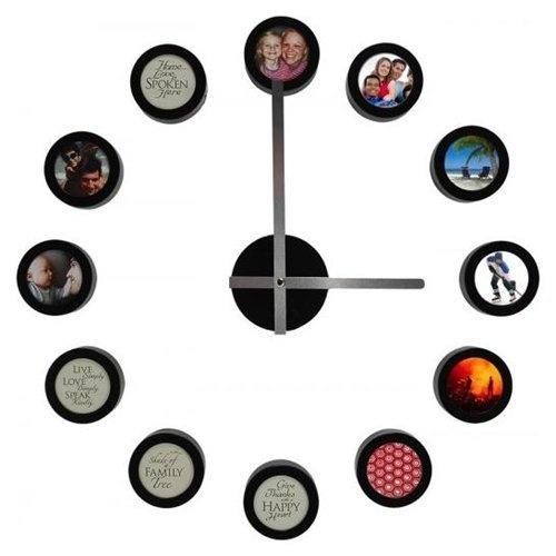 diy clock design it your self 12 frames dial by mark feldstein