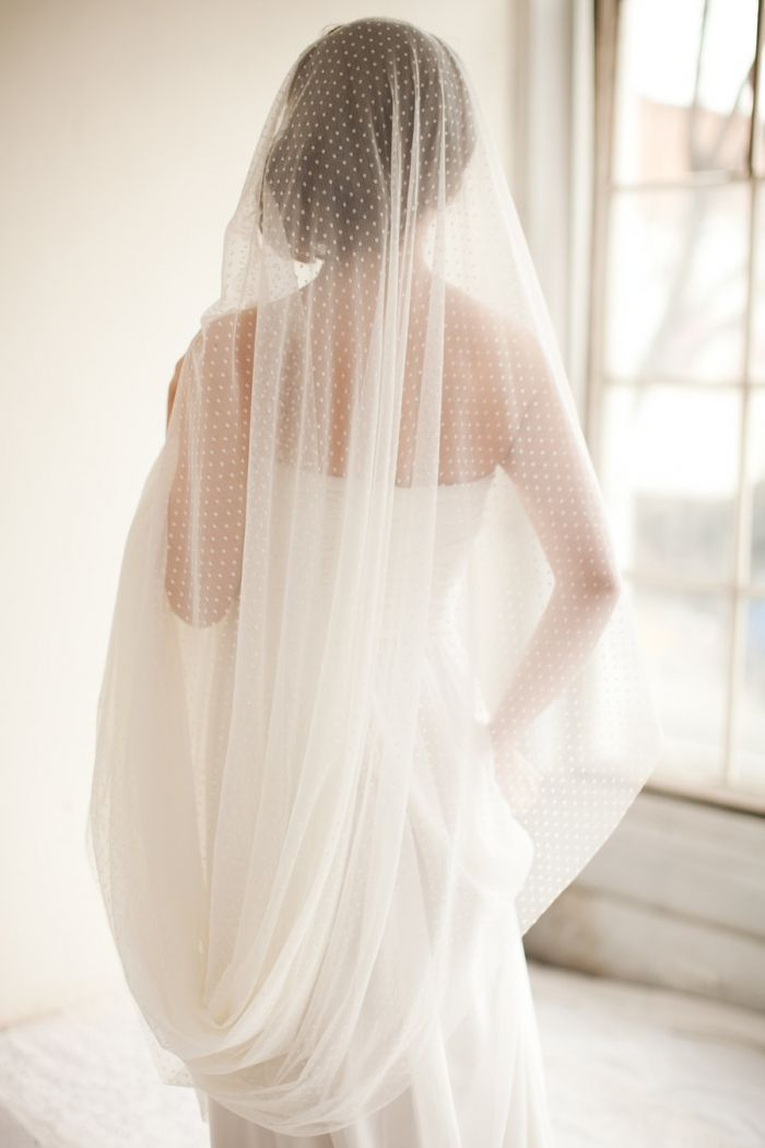 Cathedral length bridal veil (Swiss dot veil) from MelindaRoseDesign.
