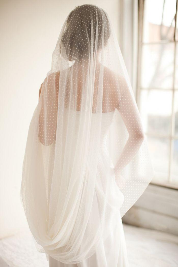 Cathedral length bridal veil (Swiss dot veil) from MelindaRoseDesign.