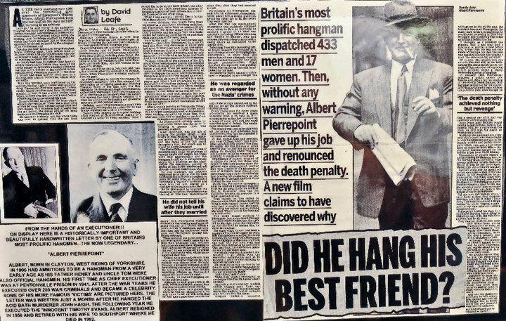 newspaper report on Albert Pierrepoint