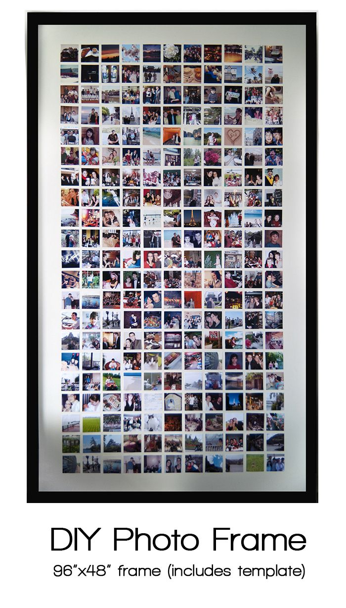 #DIY huge photo frame and printable template for photos.
