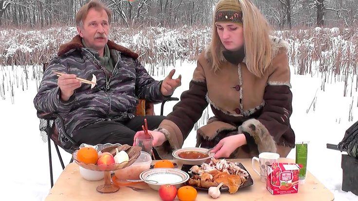 Соус в снегу. Отстрел дичи к обеду. Рыбалка сорвалась.