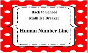 Back to School Math Ice Breaker