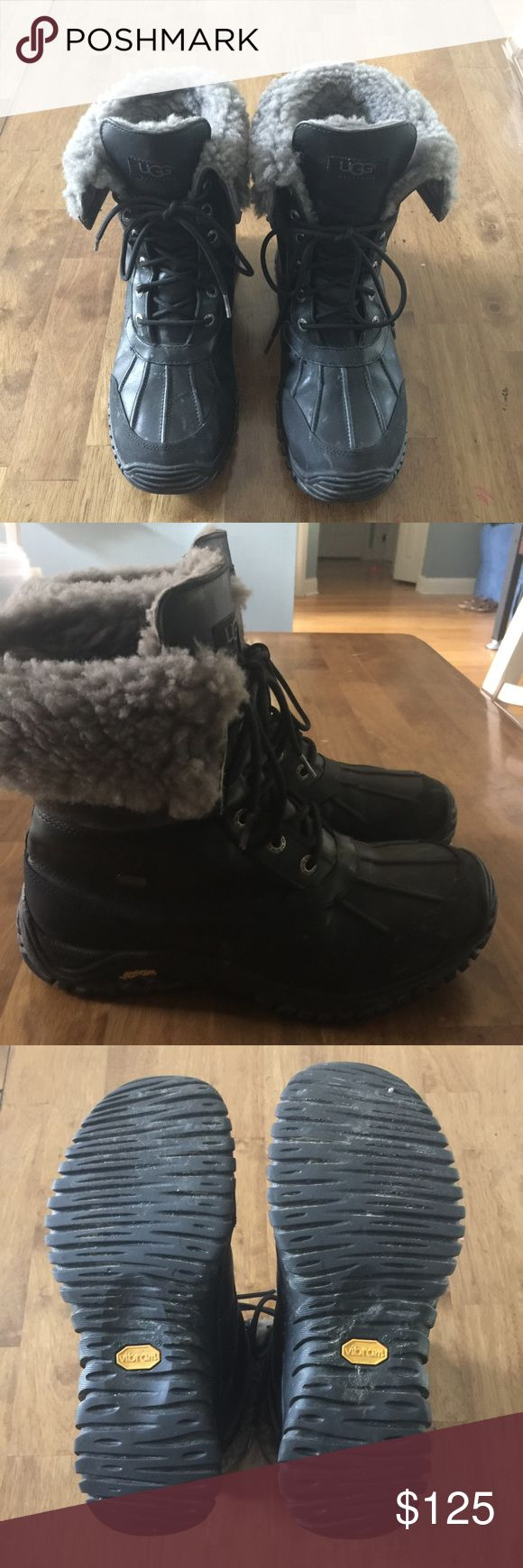 UGG Vibram Snow/Winter Boots Excellent Used Condition! I got these for my Vermont trip back in December! Unfortunately I live in Florida so I don't get the opportunity to wear these amazing shoes very often! UGG makes THE BEST winter shoes ever! Sad to see these go! Retail $275 + Tax! Price is firm! :) UGG Shoes Winter & Rain Boots