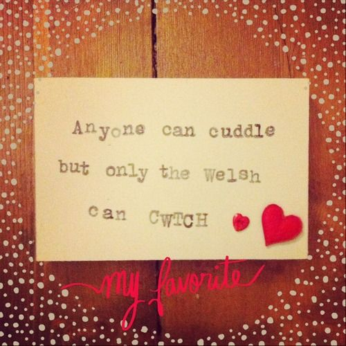 Anyone can cuddle, but only the Welsh can CWTCH - Cute Decoration